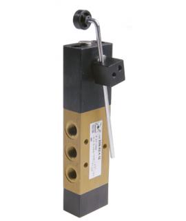 228.52.4.13 - Wegeventil - 5/2 Wege - Tastrolle (Kunststoff) - pneumatisch vorgesteuerte Luftfederrückstellung