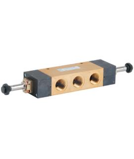 412/2.53.33.0.0.M2 - Elektroventil - elektrisch (indirekt) betätigt-beidseitig - 5/3 Wege - G 1/2