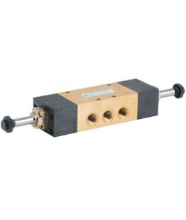 464/1.53.33.0.0.M2 - Elektroventil - elektrisch (indirekt) betätigt-beidseitig - 5/3 Wege - G 1/4