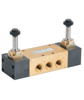 464.53.33.0.0.M2 - Elektroventil - elektrisch (indirekt) betätigt-beidseitig - 5/3 Wege - G 1/4