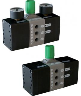 MDPT40.2R.B - Druckübersetzer Serie P+ - Manometer P1 0-12 bar - Manometer P2 0-16 bar