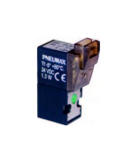 N361.3 - Miniatur Wegeventil - Steckeranschluss linear inkl. LED - 2/2 Wege N.C.